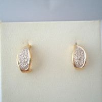 PAIRE DE CLOUS D'OREILLES DIAMANTS EN OR 18K