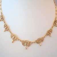 COLLIER COLLERETTE EN OR 18K