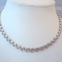 COLLIER TOUR DE COU DIAMANTS EN OR 18K