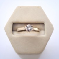 BAGUE SOLITAIRE DIAMANT EN OR 18K