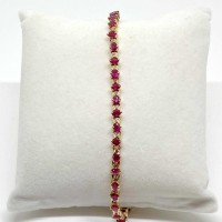 BRACELET RUBIS ET DIAMANTS EN OR 18K